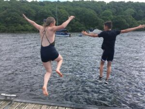 Routes group swimming trip