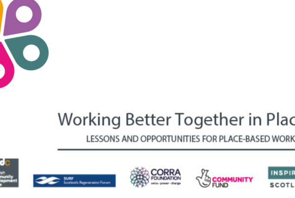 Image with title, working better together in place, and partners logos